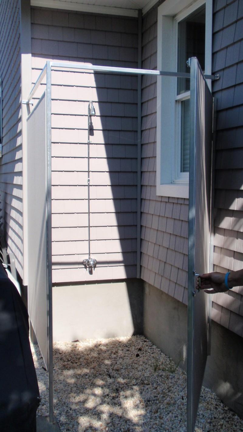 Outdoor Shower Enclosures  Custom Outdoor Shower Curtains, Enclosures U0026  Covers
