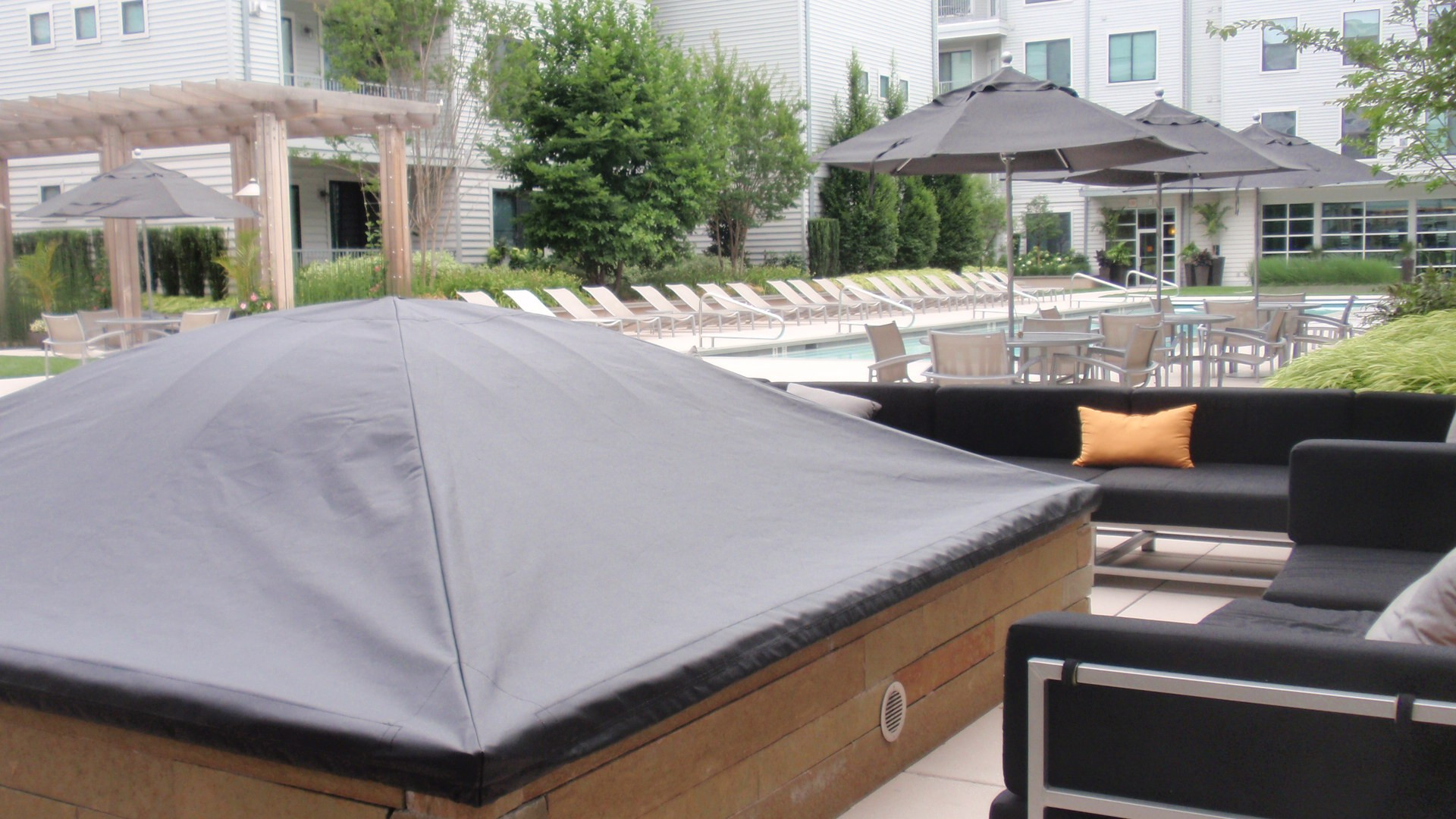 Fire Pit Covers built custom to fit various sizes of outdoor firepits & fireplaces.  A custom cover will help protect your outdoor fire pit from nature