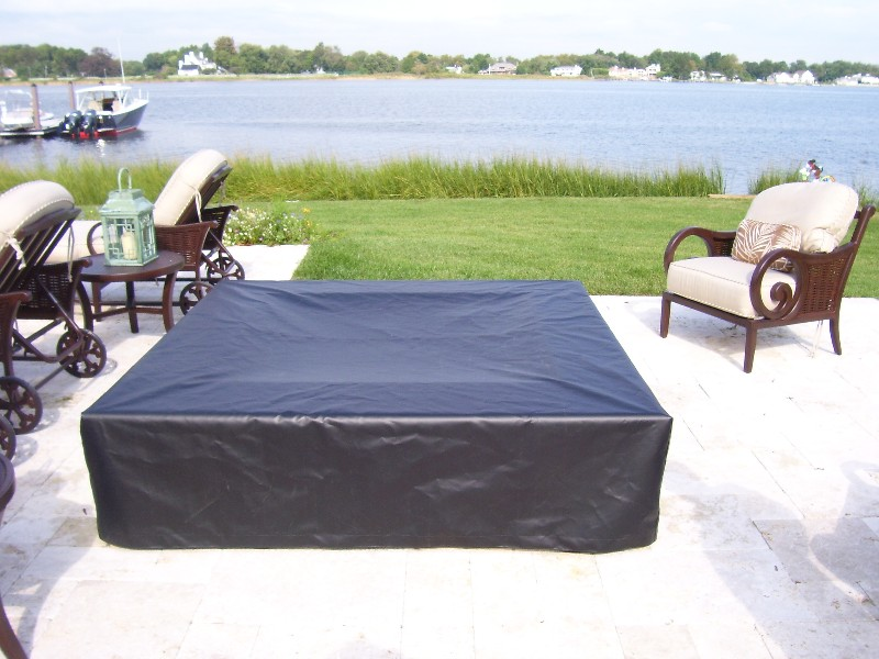 this fire pit has been tightly fitted with our top gun fabric 100 polyester the stress points are reinforced to minimize wear and withstand harsh wind