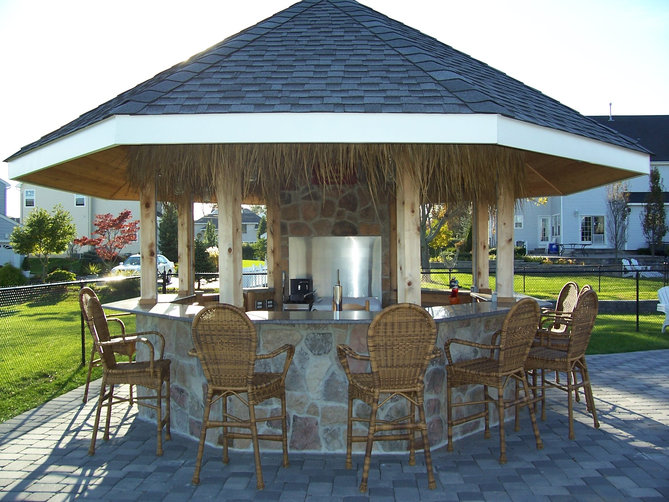 luxury tiki hut outdoor kitchen taste